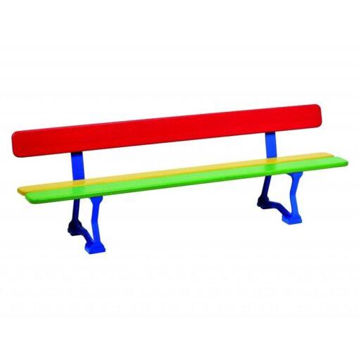 Banc Mora junior maternelle multicolore Procity acier et bois-299010_1