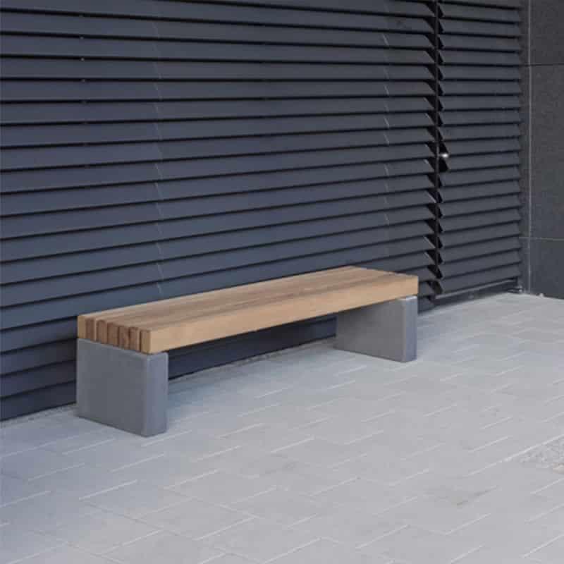 Banquette toulouse b ton et bois mobilier urbain - Mobilier toulouse ...