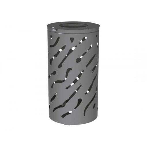 Corbeille Venise standard 80 Litres Gris Procity avec seau (1)