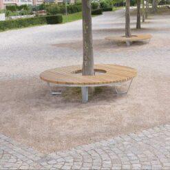 Banc tour d'arbre Saturne