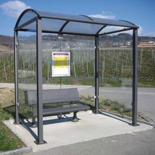 Abri bus poteaux carrés