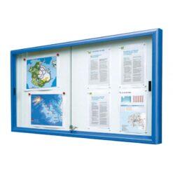 Vitrine classique coulissante RAL 5010 bleu Procity Vitincom