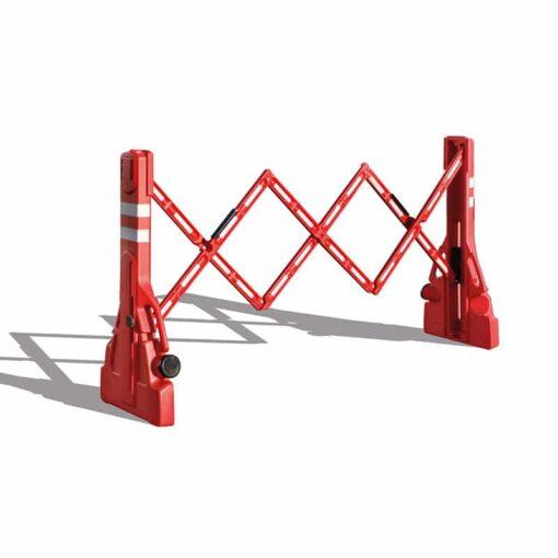 Barrière extensible PVC à rangement intégré