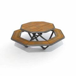 Table compact Aquitaine Octogonale
