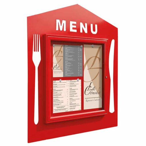Vitrine Menu carré 6 A4