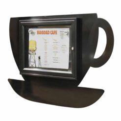 Vitrine tasse à café 2 A4