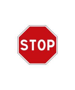 """Panneau de police d'intersection de type """"stop"""" AB4"""