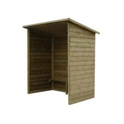 Abri voyageur bois sans fenêtres