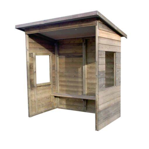 Abri voyageur bois avec fenêtres