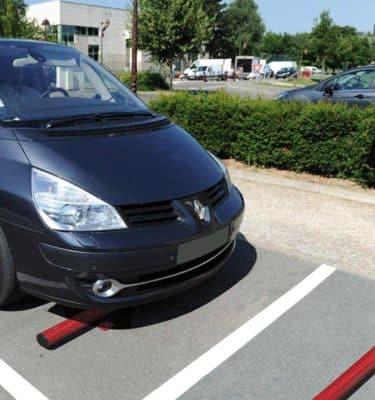 Butée de parking acier
