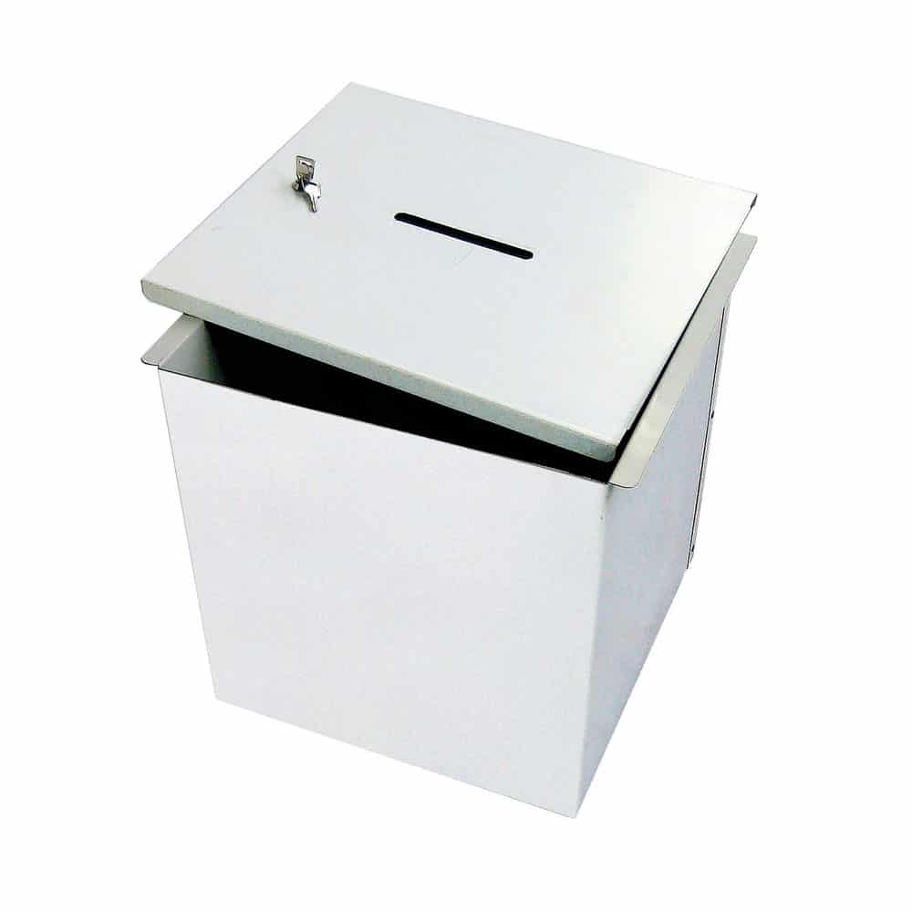 Urne électorale acier démontable avec serrure