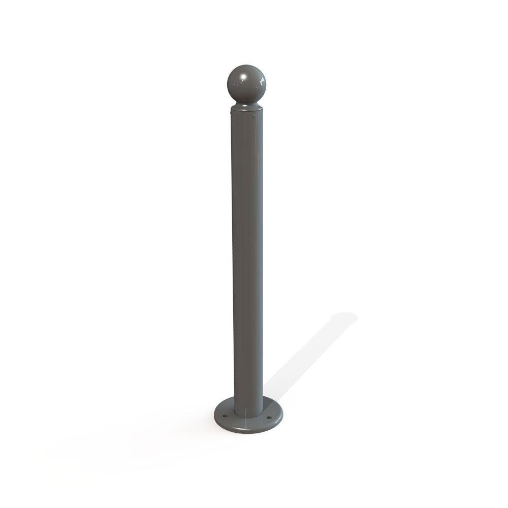 poteau galvanis sur platine avec pommeau 76 mm. Black Bedroom Furniture Sets. Home Design Ideas