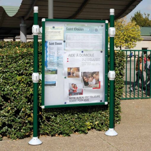 Panneau vitrine d'information