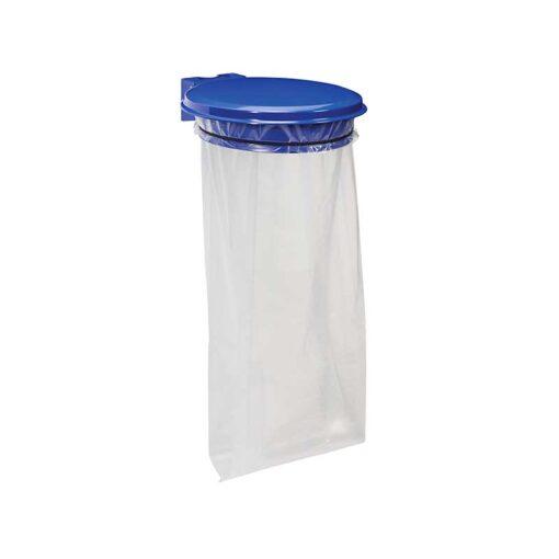 Support sacs avec couvercle finition bleu outremer RAL 5002