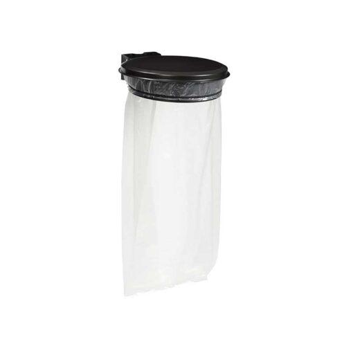 Support sacs avec couvercle finition gris manganese