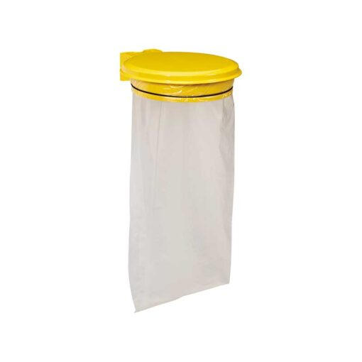 Support sacs avec couvercle finition jaune colza RAL 1021