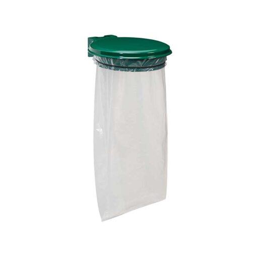 Support sacs avec couvercle finition vert mousse RAL 6005