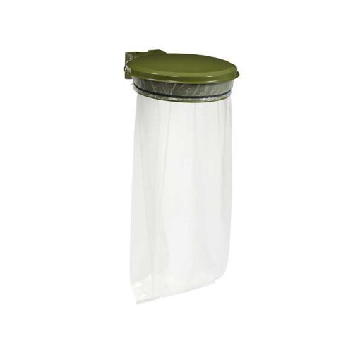 Support sacs avec couvercle finition vert olive RAL 6003