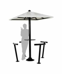 Abri fumeurs parasol
