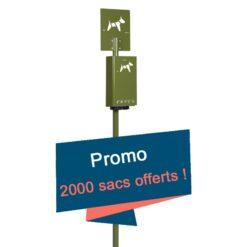 Borne hygiène canine Promo 2000 sacs offerts