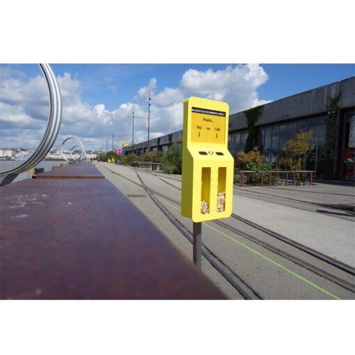Cendrier sondage Premium jaune rue
