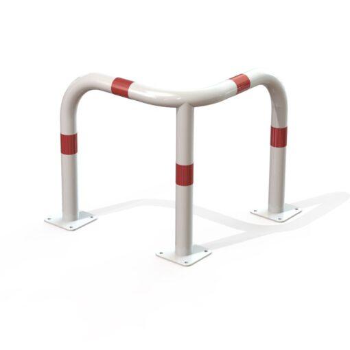 arceau d'angle de sécurité blanc et rouge hauteur 600 mm