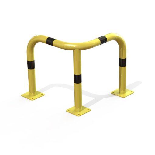 arceau d'angle de sécurité jaune et noir hauteur 600 mm