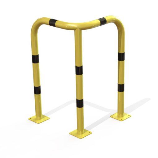 arceau d'angle de sécurité jaune et noir hauteur 1000 mm