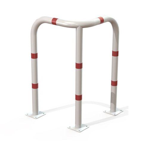 arceau d'angle de sécurité blanc et rouge hauteur 1000 mm