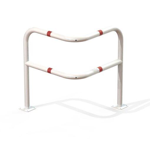 Arceau d'angle renforcé de sécurité blanc et rouge