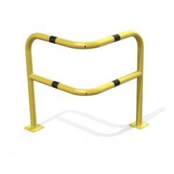 Arceau d'angle renforcé de sécurité jaune et noir
