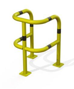 Étrier de sécurité renforcé 3 pieds sur platines jaune et noir