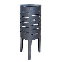 Corbeille Romini acier mobilier urbain poubelle de ville économique