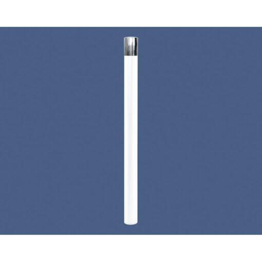 Potelet PMR Haute visibilité Procity tete Inox RAL 9010 Blanc