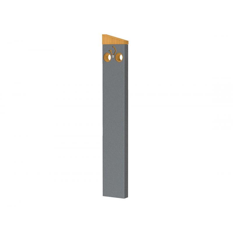 Appui cycles Silaos Procity moderne et design acier et bois gris Procity