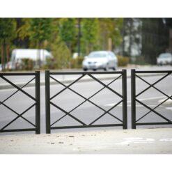 Barrière Losange Procity Longueur 1500 mm ville urbaine mobilier urbain en situation