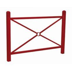 Barriere Conviviale droite Procity design ville mobilier urbain RAL 3004 rouge pourpre