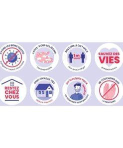 Adhesif-autocollant--message-mesures-sanitaires-coronavirus-COVID-19-lot-de-8-stickers