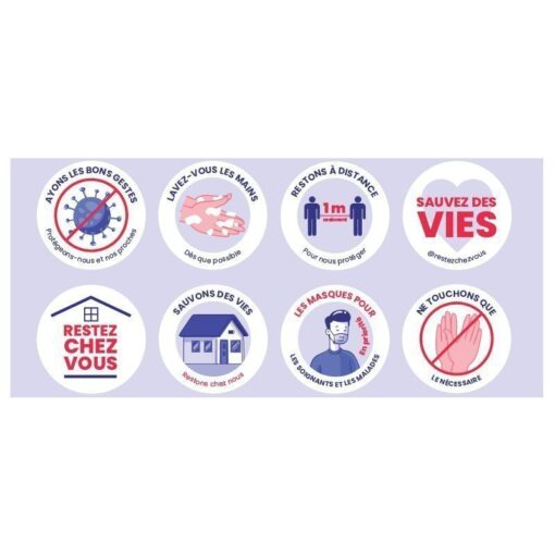 Adhesif-autocollant--message-mesures-sanitaires-coronavirus-COVID-19-lot-de-8-stickers