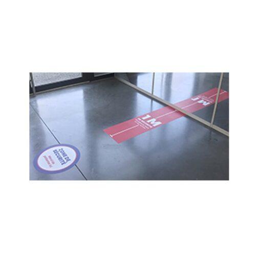 Adhésif autocollant zone de sécurité respecter les distances de sécurité de un 1 mètre coronavirus COVID-19