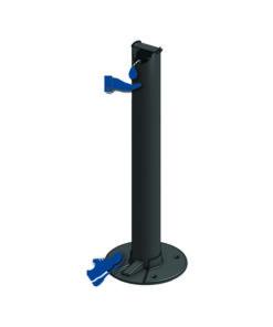 Borne distributeur de gel hydroalcoolique ilona black edition sur pied sans contact aluminium coronavirus Covid 19