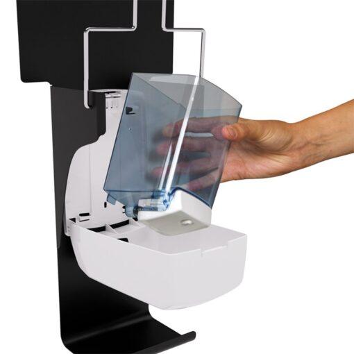 Distributeur de gel hydroalcoolique sanimains manuel zoom