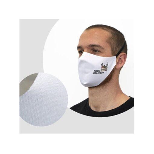 Masque de protection en tissu blanc coronavirus COVID-19 personnalisable