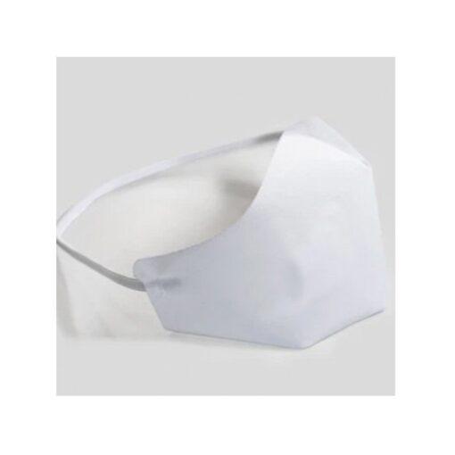 Masque de protection en tissu blanc coronavirus COVID-19