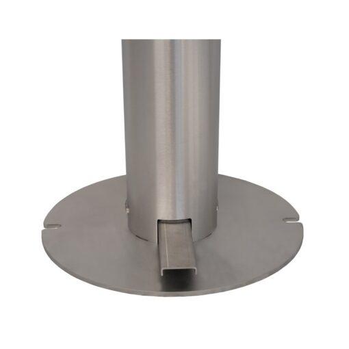 Pied pour borne distributeur universel de gel hydroalcoolique sur pied en inox acier inoxydable design sans contact mécanique