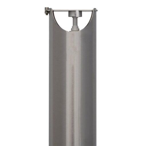 Tete borne distributeur de gel hydroalcoolique sur pied ilona en inox