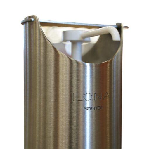 Poussoir pour borne distributeur universel de gel hydroalcoolique en inox acier inoxydable design sans contact mécanique
