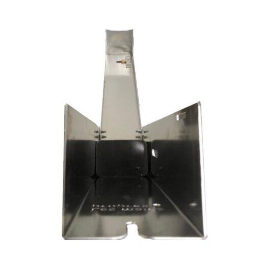 Colonne mains propres distributeur de gel hydroalcoolique sur pied sans contact aluminium recyclable coronavirus covid-19 vue du dessus