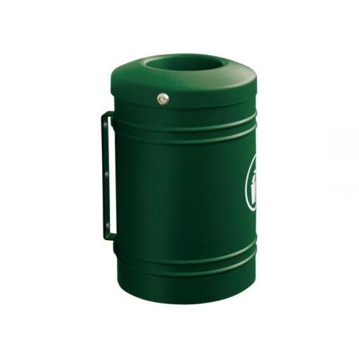 Corbeille Esterel 40 litres RAL 6005