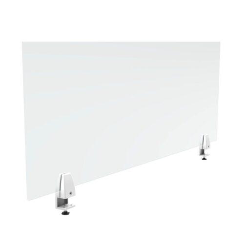 Cloisons separatrices de bureaux séparateur de bureau transparent en plexiglass fond blanc de dos